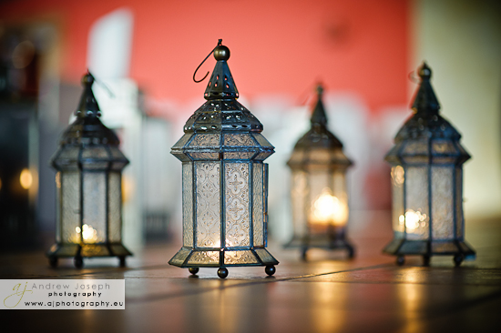 Small Lanterns With Cream Vanilla Candles Which The Wedding Team Will Hang In The Trees On The Terraces For The Evening